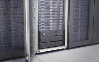 UPS installed in rack