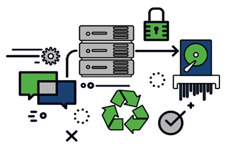data-destruction icon graphics